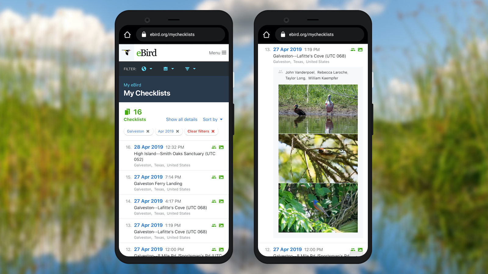 More options to manage your checklists on any device - eBird
